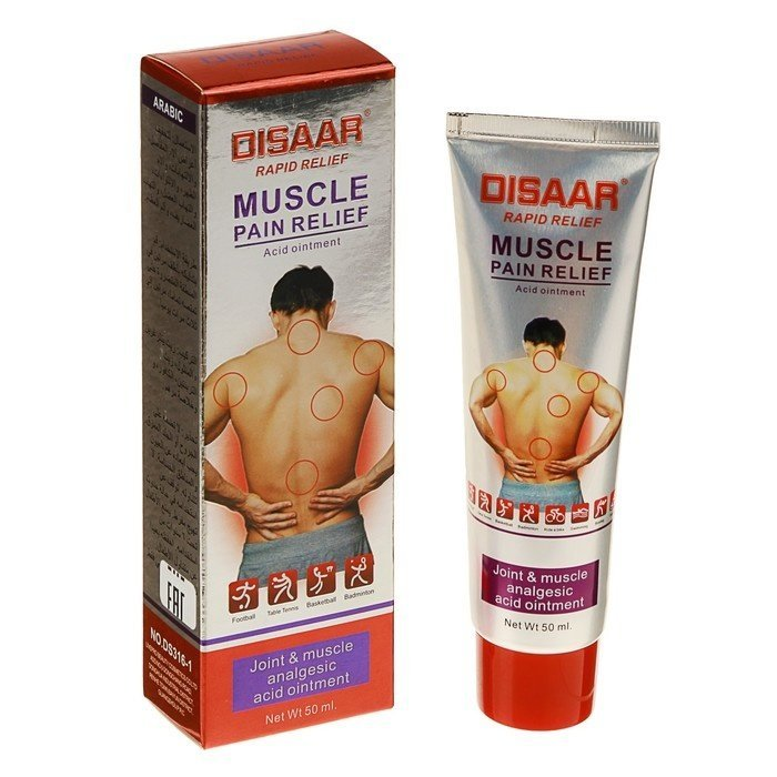 Крем для тела Disaar, Muscle Pain Relief, 50 мл